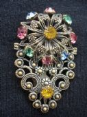 Filigree Dress Clip - Floral detail- 1920's- 30's Era Bohemian (SOLD)